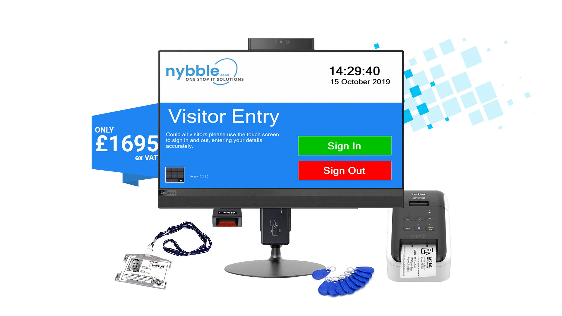 Nybble - Bespoke Visitor Entry Management System - from £1605ex VAT