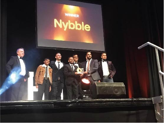Nybble win Commitment to Blackburn with Darwen Award at 2021 HIVE Awards